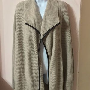Ply cashmere long cardigan